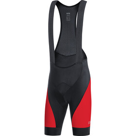 GORE WEAR C3+ Salopette corta Uomo, black/red